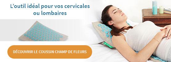 Coussin Champ de Fleurs pour Cervicales